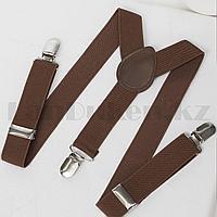 Подтяжки для брюк коричневые