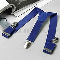 Подтяжки для брюк синие