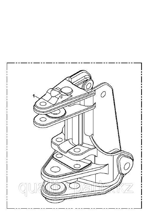 Поворотная станина (седло, конек) на экскаватор-погрузчик Hidromek 102B, 102S