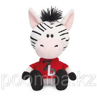 Мягкая игрушка Зебрёнок Зиба в красной футболке