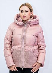 Куртка женская зимняя Evacana розовая