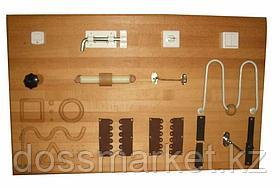 """Панель настенная с тренажерами для эрготерапии 100х60 см. (кол-во тренажеров-13) """"Я Могу"""" арт. 402.1"""