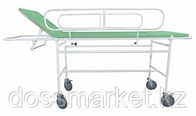 Тележка для перевозки больных ТМПБ-В01 (рег.подголовник, боковые ограждения, ложе ППУ обитый винилискоежей,