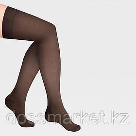 ID-300T Компрессионные чулки прозрачные (женские, закрытый носок, простая резинка)