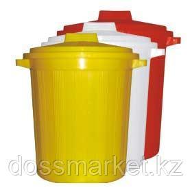 """Бак многоразовый с крышкой(полиэт) для сбора отходов""""Медиа"""" 12 л.белый"""
