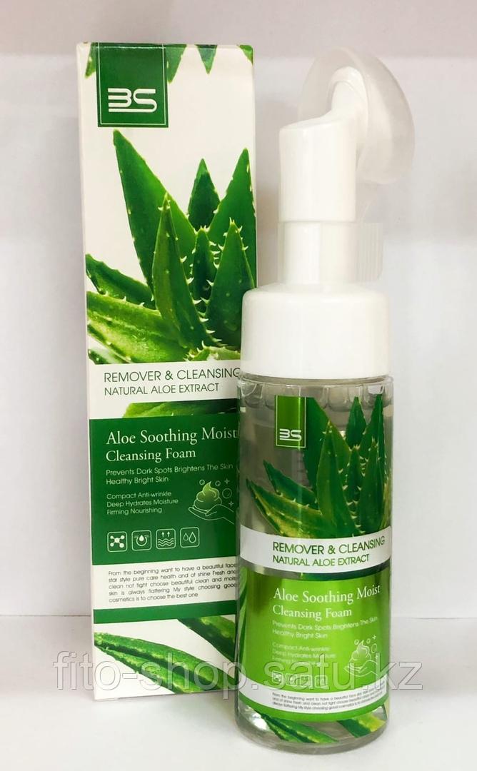 Пенка для умывания с массажной щеточкой Aloe VerA