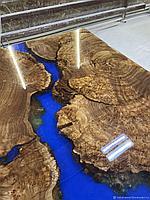 Эпоксидный стол из поперечных спилов