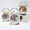 """Часы-будильник с подсветкой """"Винтаж"""", маленькие."""
