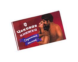 Чековая книжка страстных желаний 18+
