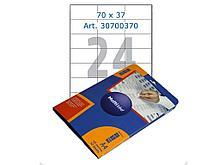 Этикетки самоклеящиеся Multilabel, А4, 70 х 37 мм., 24 шт/лист, 50 л.