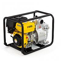"Мотопомпа бензиновая для грязной воды PX-80D, 15 л.с., 3"", 1500 л/мин, глуб 8 м,напор 30 м// Denzel"