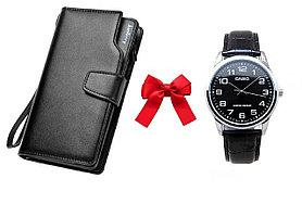 Портмоне-Клатч Baellerry Business + Часы в Подарок!