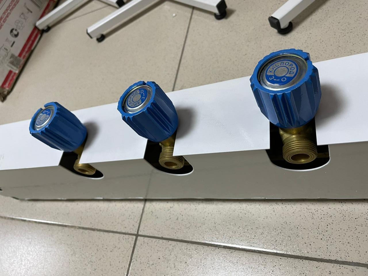 Коллектор рамповый КР-01-02 кислородный на 3 баллона Альтернативная наука