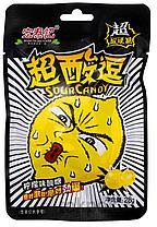 Супер кислый леденец со вкусом лимона ЖЕЛТЫЙ 28 г (20 шт в упаковке)