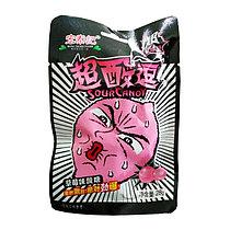 Супер кислый леденец со вкусом Клубники РОЗОВЫЙ 28 г (20 шт в упаковке)