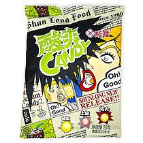 Супер кислые Конфеты Shun Long Food со вкусом Колы ЗЕЛЕНЫЕ 20гр (20 шт в упаковке)