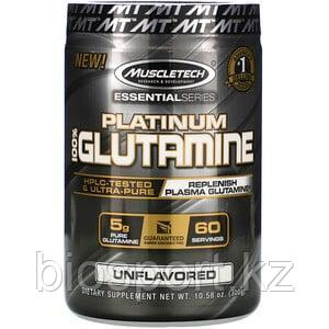 Muscletech, Essential Series, Platinum 100%, глютамин, 300 г