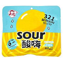 Супер кислые Конфеты  Sour со вкусом лимона ЗЕЛ/ЖЕЛТ 22 гр (20 шт в упаковке)