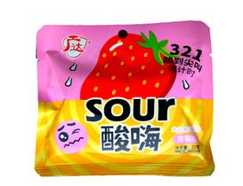 Супер кислые Конфеты  Sour со вкусом Клубники РОЗ/ЖЕЛТ 22 гр (20 шт в упаковке)