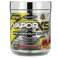 Предтрен Muscletech, VaporX5, Next Gen, 263 г