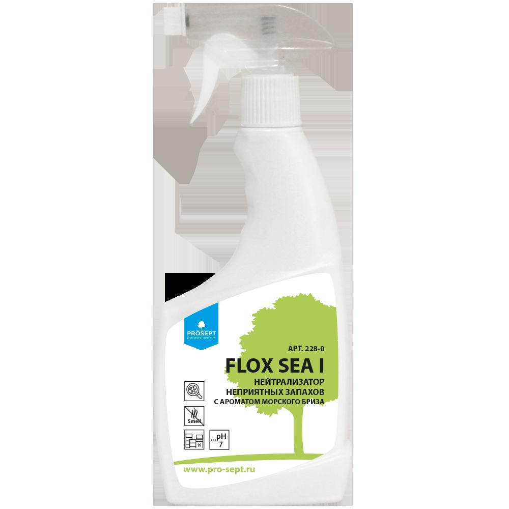 Профессиональный нейтрализатор неприятных запахов FLOX SEA I (морской бриз) Готовый состав, спрей 0,5 л
