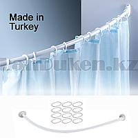 Карниз для ванной овальный 90x90 см белый