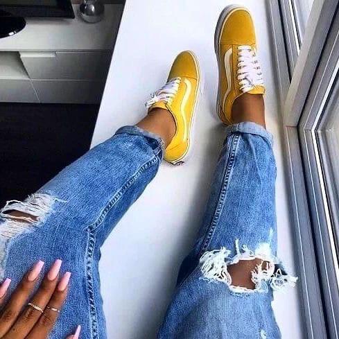 Кеды V желтые