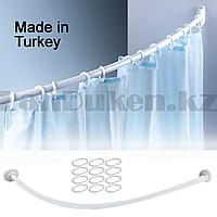 Карниз для ванной овальный 120x120 см белый