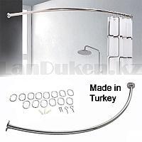 Карниз для ванной овальный 90x90 см хром