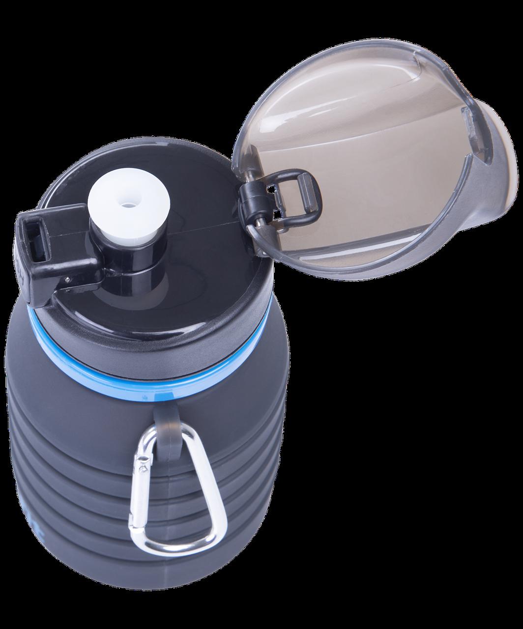 Бутылка для воды с карабином, складная  Starfit