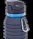 Бутылка для воды с карабином, складная  Starfit, фото 8