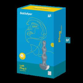 """Перезаряжаемый анальный стимулятор """"Satisfyer Lolli Plug 2"""", силикон, 12 уровней вибрации"""