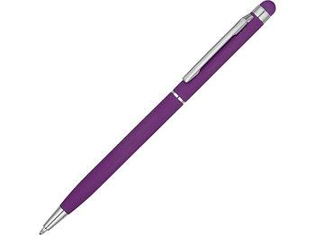 Ручка-стилус шариковая Jucy Soft с покрытием soft touch, фиолетовый