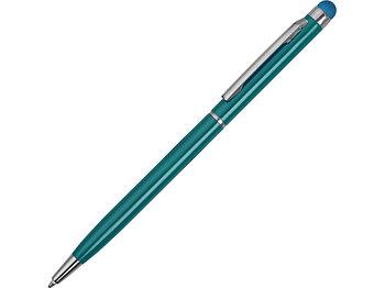 Ручка-стилус металлическая шариковая Jucy, бирюзовый