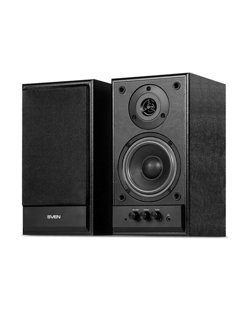 SVEN SPS-702, чёрный, акустическая система 2.0, мощность 2х20 Вт(RMS) /  SV-0120702BL