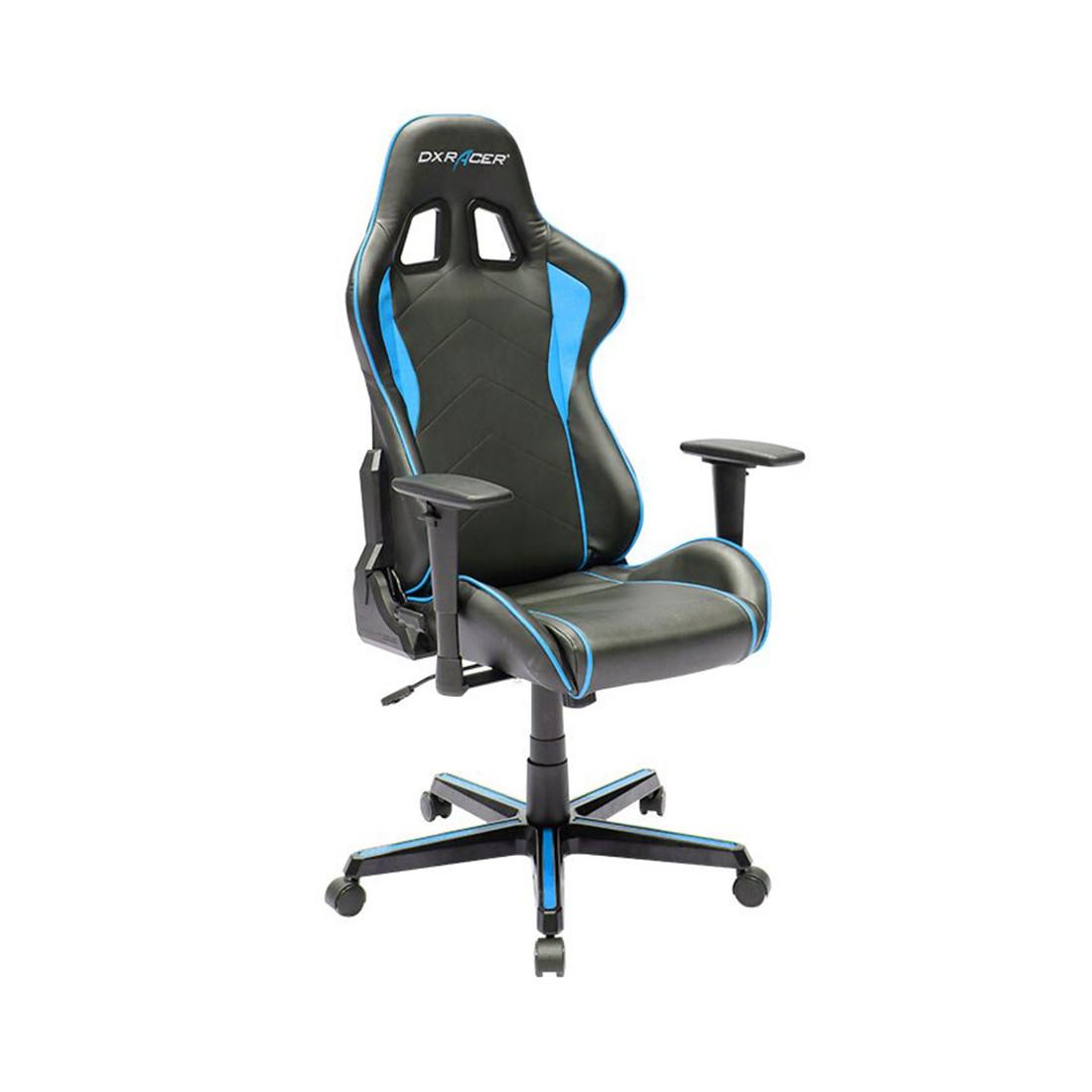 Игровое компьютерное кресло, DX Racer, OH/FH08/NB, ПУ экокожа, Вид наполнителя: губчатая пена высокой