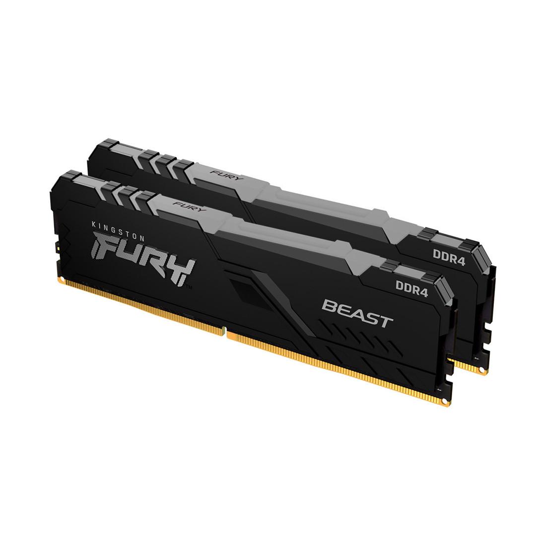 Комплект модулей памяти, Kingston, FURY Beast RGB KF426C16BBAK2/16 (Kit 2x8GB), DDR4, 16GB, DIMM , Чёрный