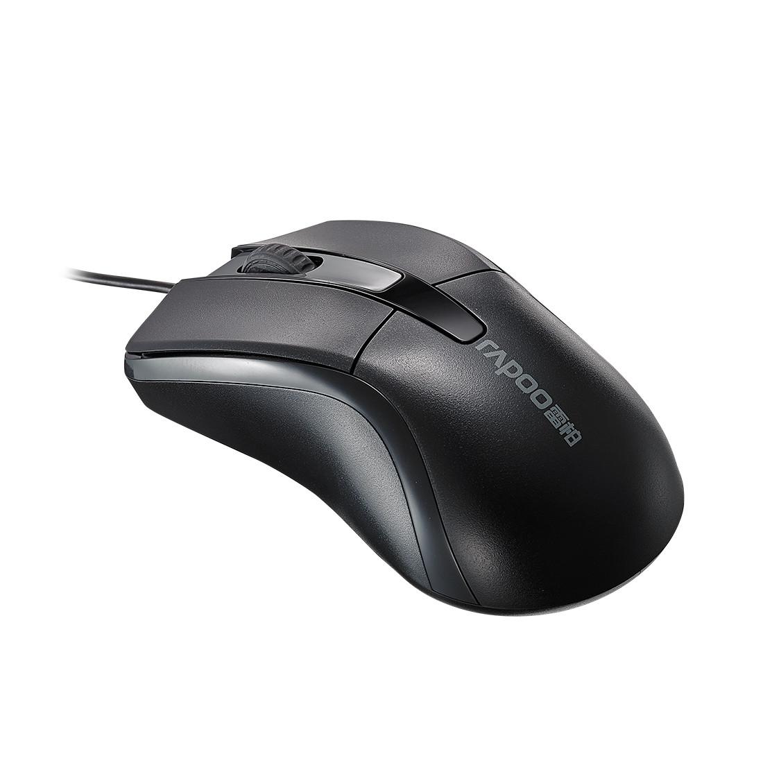Компьютерная мышь, Rapoo, N1162 , 3D, Оптическая, 1000dpi, USB, Длина кабеля 1,6 метра, Чёрный