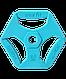 Диск обрезиненный с хватами BB-205 2,5 кг, d=26 мм,  Starfit, фото 2
