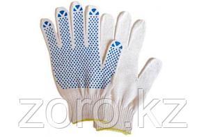 Перчатки рабочие х/б синтетические ПВХ трикотажные хозяйственные вязанные