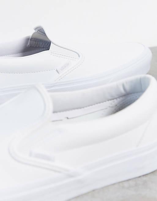 Слипоны V белые
