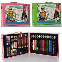 Набор для творчества детский (чемодан) 102 предмета (дерево)