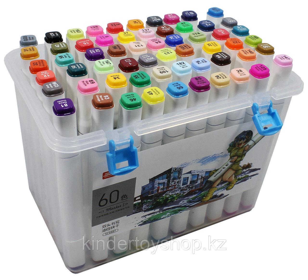 Touch Маркер 60 цветов Оригинал профессиональные для скетчинга