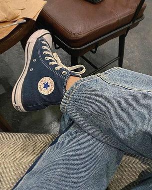 Кеды синие высокие классические, фото 2