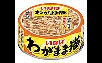 INABA WAGAMAMA для капризных кошек Японский тунец с тонкой нарезкой желтоперого тунца в желе, 115гр