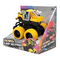Funky toys 1165394 Машина пластиковая с краш-эффектом, пул-бэк, желтая