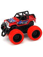 Funky toys 1165395 Машина пластиковая с краш-эффектом, пул-бэк, красная