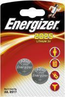 Элемент питания Energizer CR2025 -2 штуки в блистере