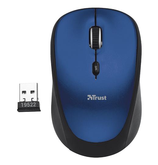 Мышь беспроводная Trust Yvi синий