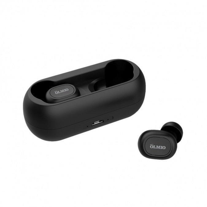 """Наушники-вкладыши беспроводные OLMIO """"TWE-02"""", Bluetooth 5.0, True Wireless"""